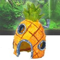 Underwater Comic Plants Pineapple House Fish Hiding Play Home Shrimp Nest Fish Tank Decor Aquarium Decoration