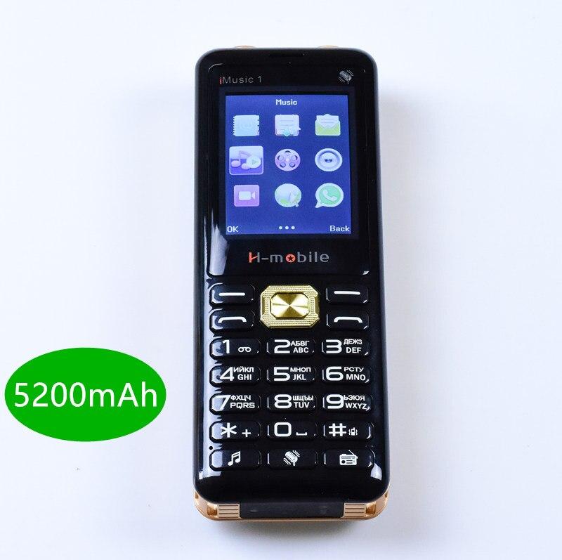 Réel 5200 mah power bank téléphone portable Super musique Son Fort double haut-parleur mobile téléphone De Luxe Téléphone Trois SIM H -mobile iMusic1