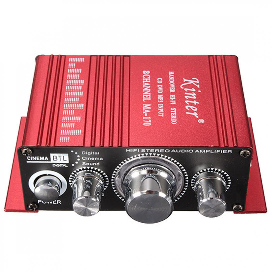 Mini Homen computadora de amplificador de sonido claro ruido Ultra bajo MP3 altavoz 2 CH DC 12 V 20 W
