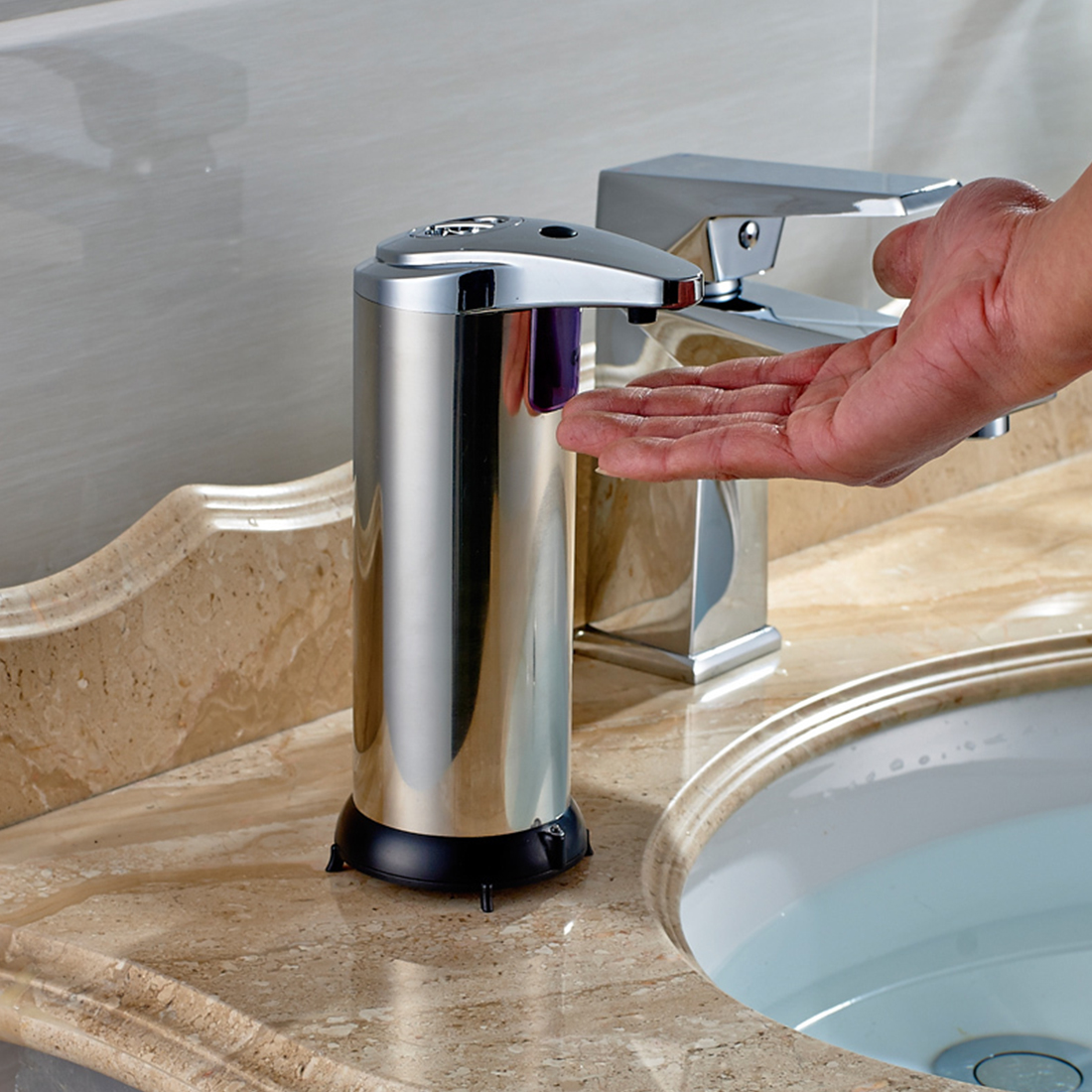 kitchen bathroom school 250ml automatic soap dispenser