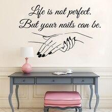 Vinilo de salón de uñas pared adhesivo uñas Arte Mural belleza decoración manicura