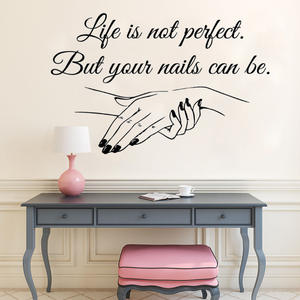 Window Vinyl Decal Nail Salon Quote Wall Sticker Nail Art Polish Wall Mural Beauty Salon Decoration Manicure Vinyl Art AY1089