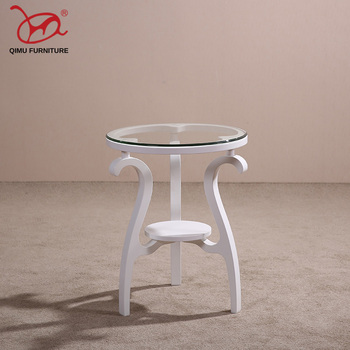 Free shipping hot sell round minimalist modern wooden coffee table solid wood tea table living room antique furniture M233 end table