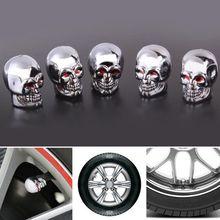 5 шт. череп шина для колеса автомобиля Авто Клапаны крышка пыли стволовых Крышка Велосипеда