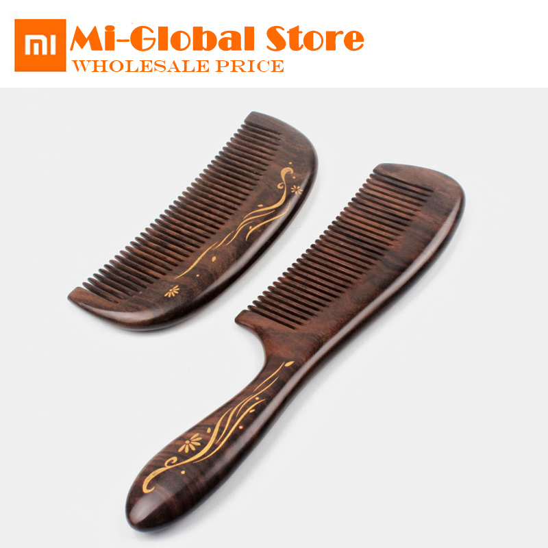 new version xiaomi xin zhi Natural wooden comb Hand-painted comb professional hair Styling tool hand made high quality for gift
