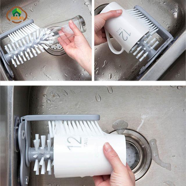 Sink Glass Cleaner Brush