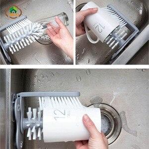 Image 3 - MSJO verre nettoyant bouteilles Stand Base brosse tasse évier eau potable épurateur tasse vin aspiration auto cuisine bouteille nettoyant brosse