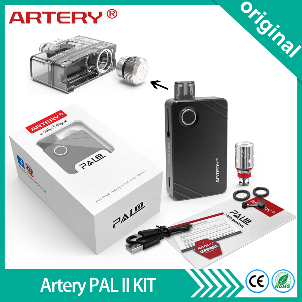 Original Artery PAL II Pod Kit 1000mAh Battery with 3ml Capacity Pod Side Refilling System PAL