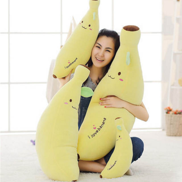 Online Shop Fancytrader Realistic Fruits Banana Plush Toy Big Soft