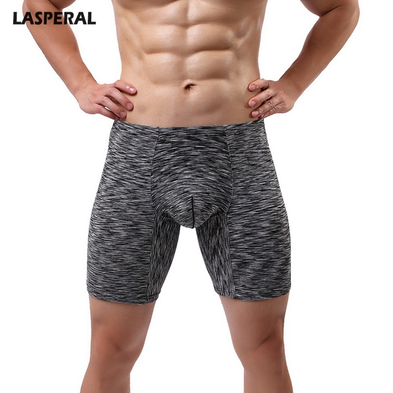 c9843db2635 LASPERAL Men Boxer Sexy Long Elastic Fitness Brand Male Boxers Breathable  Underwear Men Boxer Shorts Underpants Homme 2018 New