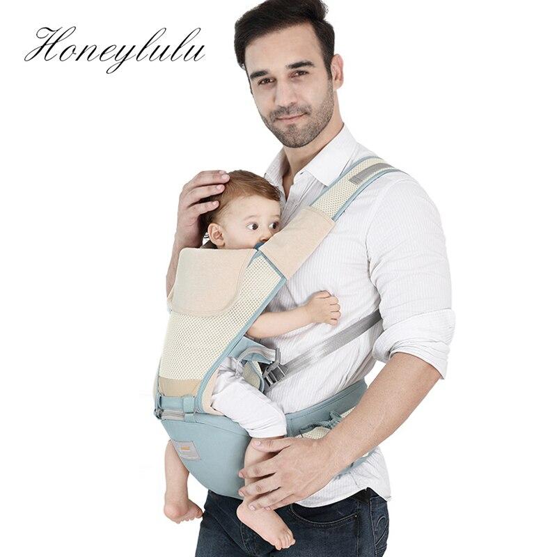 Honeylulu Summer Baby Carrier Honeycomb Mesh Sling For Newborns Breathable Multifunctional Kangaroo Ergoryukzak Hipseat