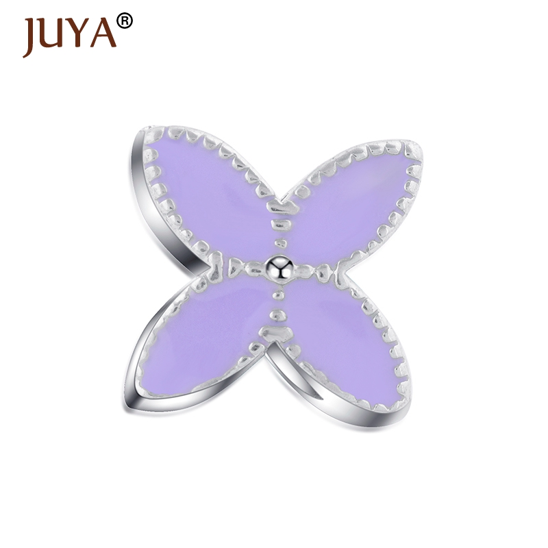 Gold Silver Charm Bead Flower Enamel Beads Fit Original Pandor Bracelet Authentic Luxury Women Jewelry Accessories DIY Beads