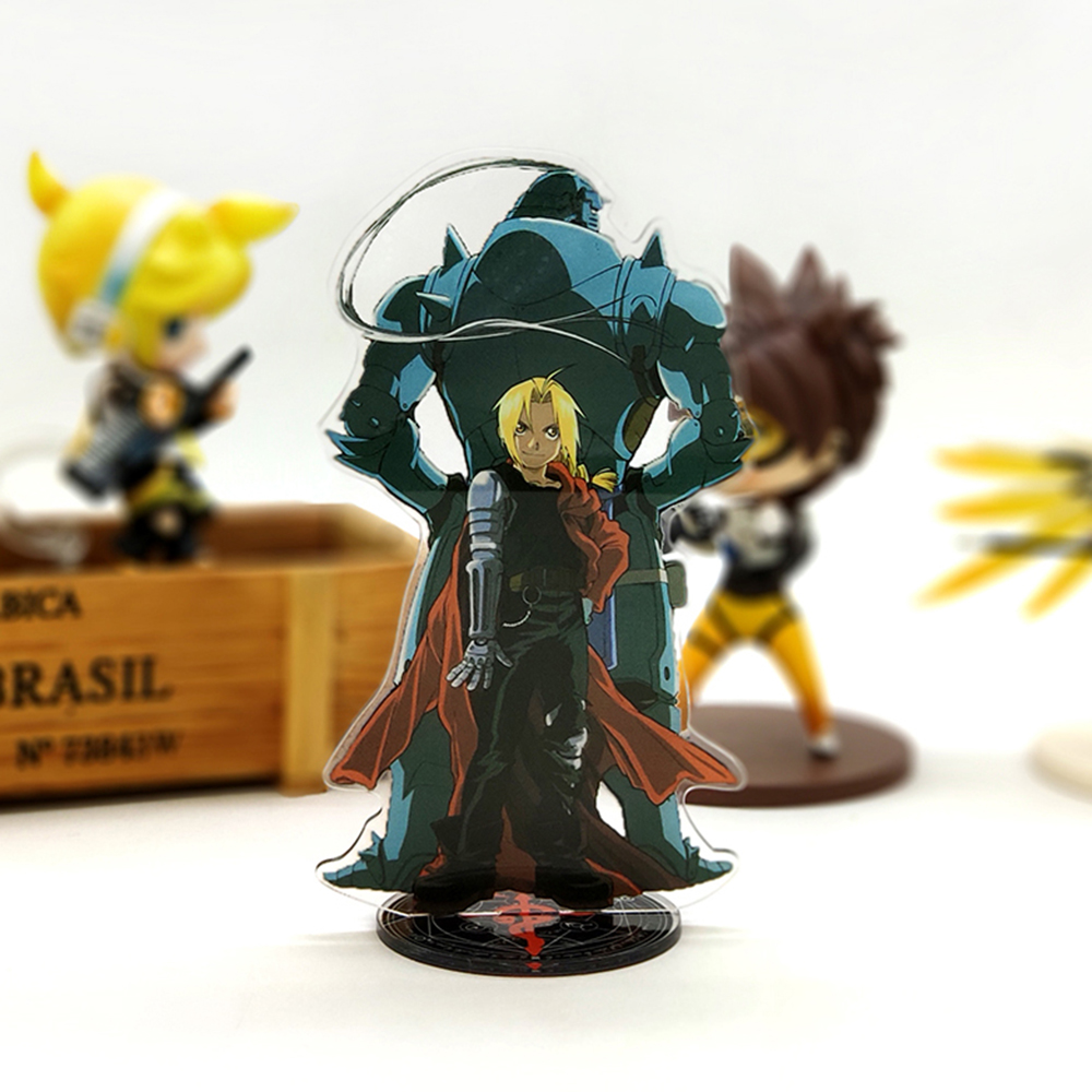 Love Thank You Fullmetal Alchemist Brotherhood Edward Alphonse Acrylic Stand Figure Model Plate Holder Cake Topper ANIME Cool
