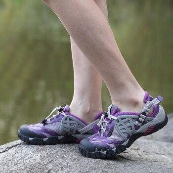 Zapatillas de senderismo transpirables para hombre y mujer zapatos de exterior sandalias de agua para
