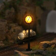 LQS62N 3 шт. модель железной дороги N масштаб огни 1:150 горит платформа часы лампа железнодорожная станция Макет