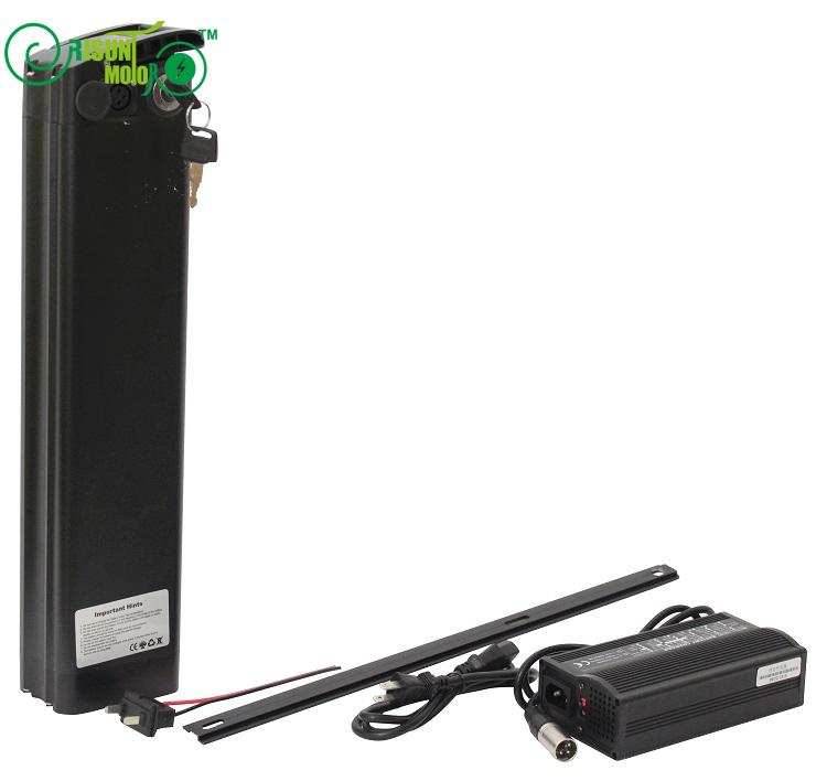 24V 30.8AH Ebike Li-ion Battery For S22P Cell With Slim Aluminium Case BMS and 5A Fast Charger 48v 15ah li ion ebike battery 750w 48v 15ah bottle battery pack use samsung 3000mah cell 20a bms with 2a charger
