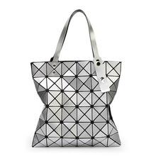 Geometric pattern bag women fashion style handbag  new shoulder portable tide package PU large capacity shopping