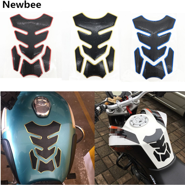 Universal Motorcycle 3D Rubber Sticker Gas Fuel Oil Tank Pad Protector Cover Decals Red Black Blue Auto Motorbike Accessories