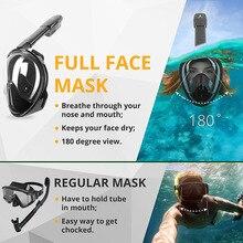 Pływanie Nurkowanie sprzęt Oddech Pełna Maska Powierzchni Snorkel Maska Do Nurkowania Scuba Anti Fog Dorosłych Dzieci do Kamery GoPro