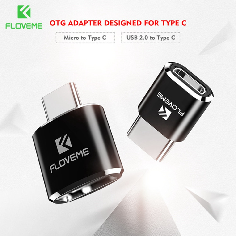 FLOVEME OTG Type C Adapter For Samsung Galaxy S9 S8 Plus Note 8 For Oneplus 3t <font><b>Micro</b></font> <font><b>USB</b></font> <font><b>2.0</b></font> Male Converter Adapter Charger <font><b>Cabo</b></font> image
