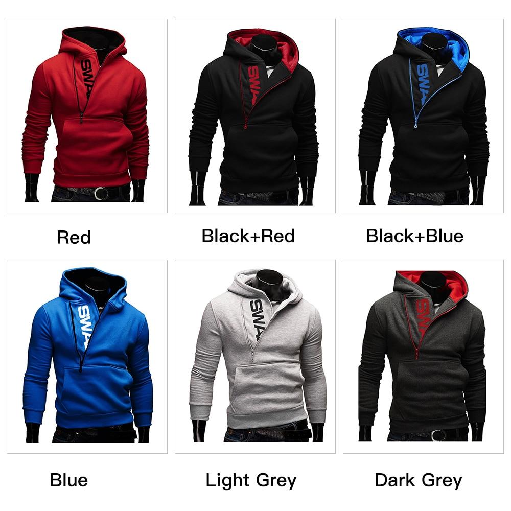 Hoodies Men Autumn Fashion Tracksuit Sweatshirt Men's Winter Warm Collar Cap Long Sleeves Pullover Hoody Sports Sweatshirts 27