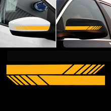 2PCS New Car Styling Rear View Mirror Reflective Auto shape Stickers Decoration Automotive Interior Exterior Car Accessories(China)