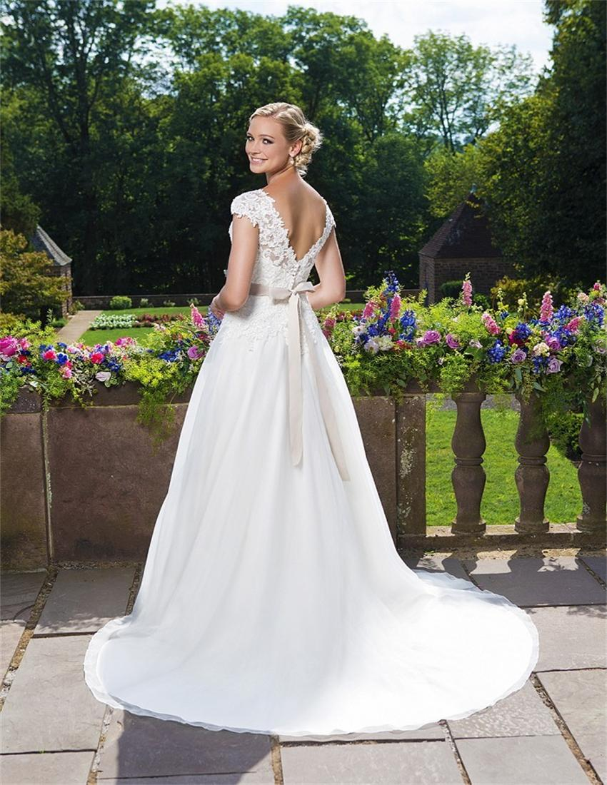 hayley paige designer cheap used wedding dresses Hayley Paige Carrie HP 1 Size 8 Used Wedding Dresses