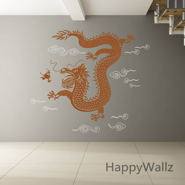 3d Dragon Wall Sticker Chinese Style Dragon Wall Decal DIY Modern Vinyl Wall  Art Removable Wall Decoration A30