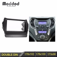 Double Din Car Radio Fascia for HYUNDAI IX45 2012+ Stereo Dash Kit Fit Installation Trim Facia Face Plate Panel DVD Frame