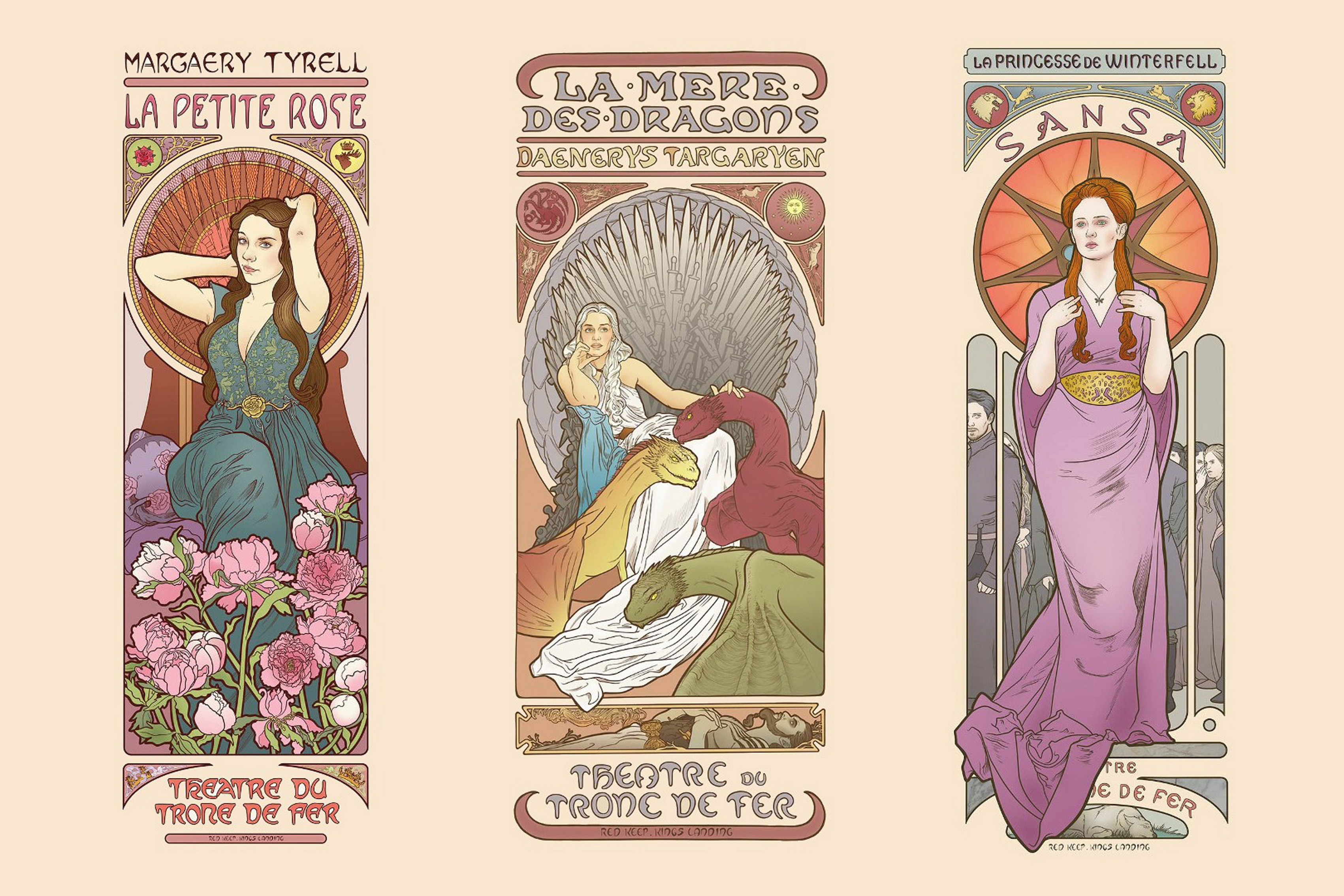 Buy game of thrones comic art character for Art nouveau decoration ameublement