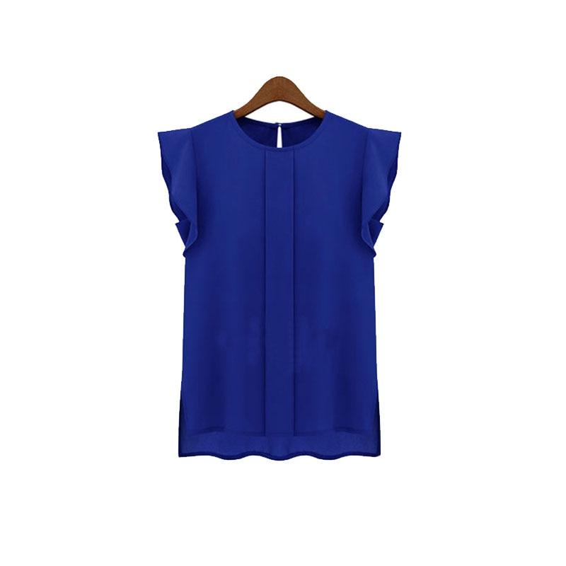 2017 nueva moda mujer blusas de gasa clothing summer lady blusa/camisa de venta