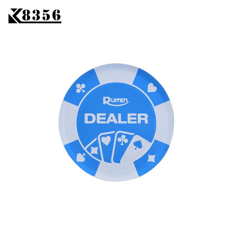 K8356 1PC Baccarat 95G Acrylic Blue PokerFlower DEALER Button Texas Holdem PokerStars Poker Cards Guard Chips Diameter 72mm