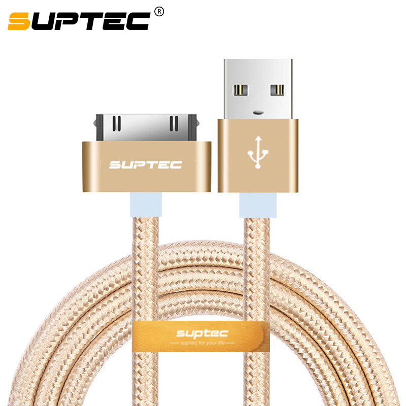 SUPTEC 2.4A Fast Charging USB Cable for iPhone 4 s 4s 3GS iPad 2 3 iPod Nano touch 30 Pin Charge adapter Charger Data Cable 2(China)