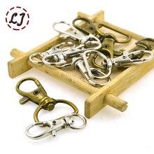 Новинка, 10 шт./лот, серебристая, бронзовая, металлическая сумка для багажа, собачья Пряжка, крючок, вешалка для сумки, застежка-карабин, сделай сам, швейный брелок для ключей ручной работы, кнопка