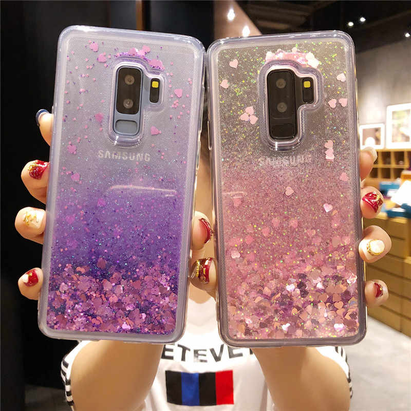 Fashion Dynamic Liquid Quicksand TPU Case For Samsung Galaxy S9 Plus S8 S7 Edge Note 9 8 5 4 3 J2 Prime J3 J5 J7 2016 Phone Case