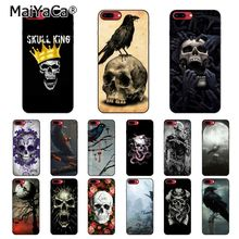 MaiYaCa Skull Crow Flower Pirate Love Blanket  Raven Phone Case For iphone 11 Pro 11Pro Max 8 7 6 6S Plus X XS MAX 5 5S SE XR