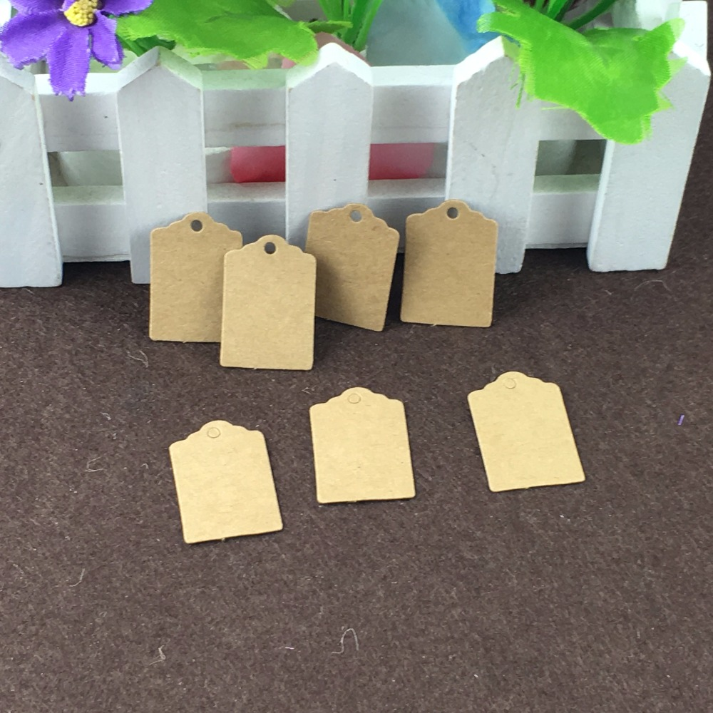 400PCS Kraft Paper 3 2cm Small Hang Tags 400PCS Hemp Strings Jewelry Head Cards font b