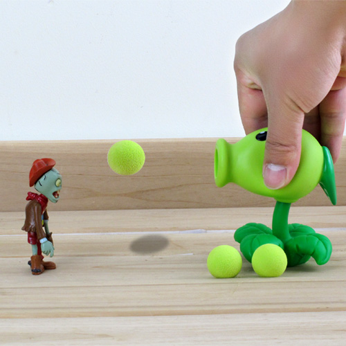 New Popular Game PVZ Plants vs Zombies Peashooter PVC Action Figure Model Toys 5 Style 10CM Plants Vs Zombies Toys For Baby Gift