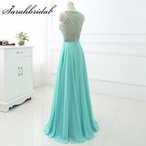 Image 3 - Длинное вечернее платье Aqua, Недорогое Платье длиной до пола из шифона с бусинами и вырезом лодочкой, LX411