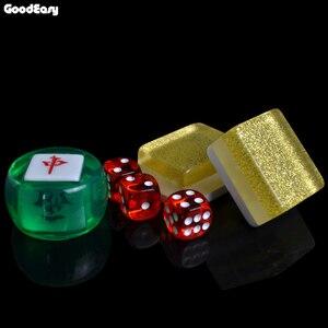 Image 3 - חם למכור 40mm יוקרה ונג סט כסף & זהב משחקי משחקי הבית הסיני מצחיק משפחת שולחן לוח משחק מתנה נפלאה
