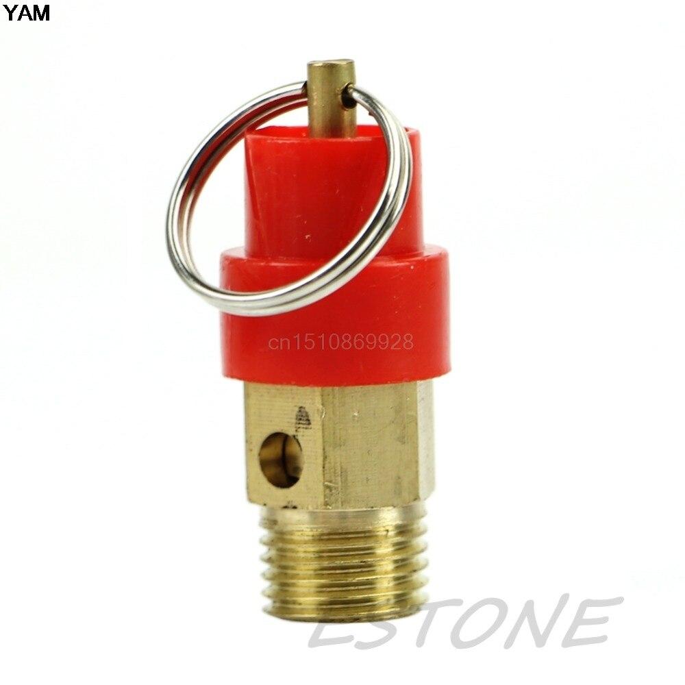 1pc 1/4'' 3KG BSP Air Compressor Safety Release Valve Pressure Relief Regulator  9 25 9mm dia air compressor safety pressure relief valve new