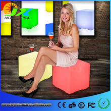HOT!40CM 100% unbreakable led Furniture chair Magic Dic LED Remote controll square cube luminous light for variety of occasions