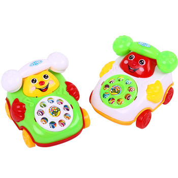 Children Sound Toy Pull Line Music Car Phone Educational Intelligence Developmental Toys Kids Gift M09 Car phone