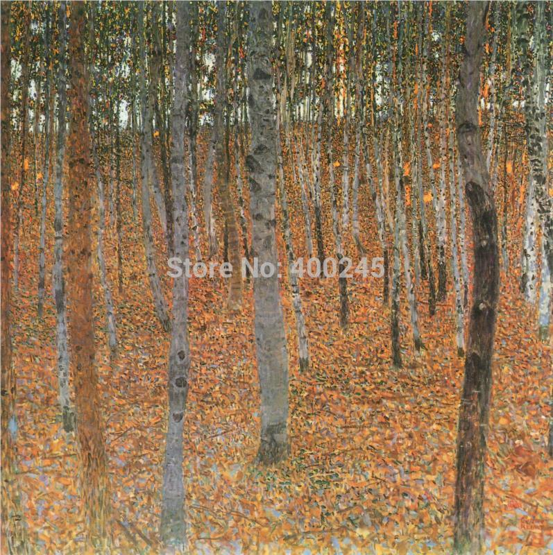 Landscape oil painting Trees Canvas Gustav Klimt Painting reproduction Beech Grove I High quality hand painted free shippingLandscape oil painting Trees Canvas Gustav Klimt Painting reproduction Beech Grove I High quality hand painted free shipping