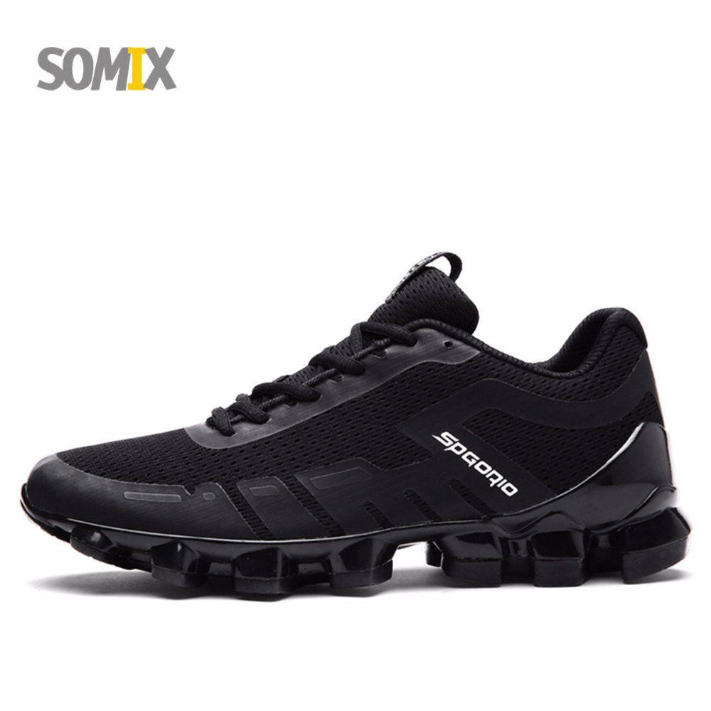 цены  Somix Men Damping Running Shoes Elastic Profession Sport Sneaker Bounce Breathable Lightweight Athletic Shoes Adult Sport shoes