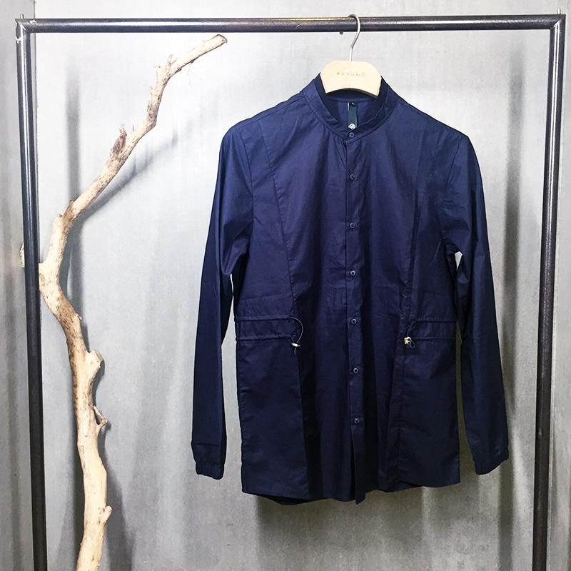 font b Mens b font Casual font b Shirt b font Dark Blue 100 Cotton