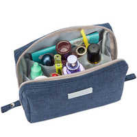 Casual Travel Cosmetic Bag Women Zipper Make Up Function Makeup Case Organizer Storage Pouch Toiletry Beauty Wash Kit Bath Box