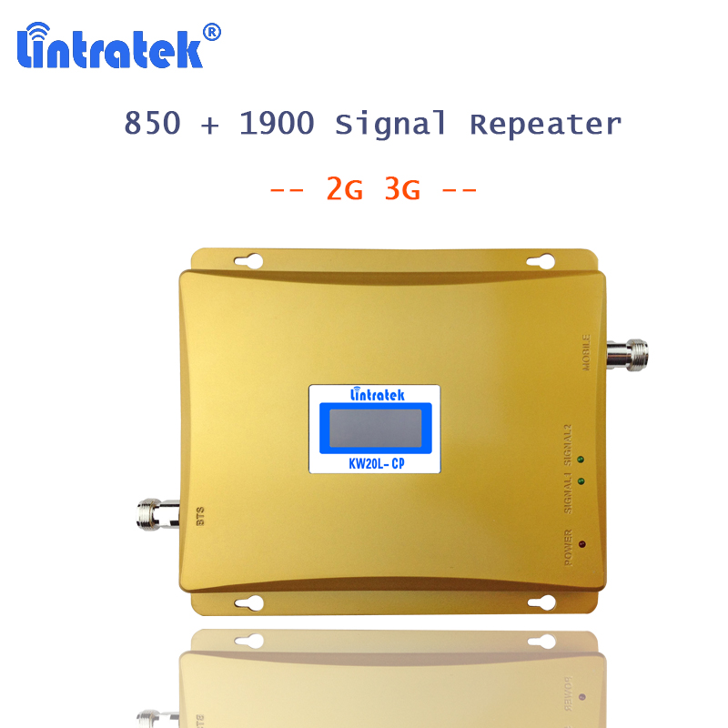 lintratek <font><b>repetidor</b></font> <font><b>850</b></font> <font><b>mhz</b></font> cellphone signal booster 3g amplificador 850mhz 1900mhz for mobile signal celular repeater 2g 3g S35 image