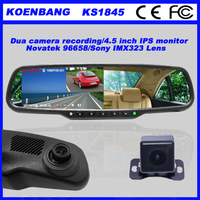 KOENBANG Full HD 1080P 150Degree 4.5 Inch IPS Screen Car DVR Video Recorder Parking Rear View Rearview Mirror Monitor