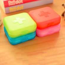 Practical 4 Slot Empty Storage Outdoor Travel Pill Cases Portable Medicine Box Tablet Dispenser Capsule Organizer Color Randomly(China)